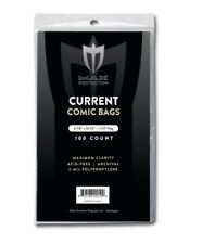 100 Current / Modern Comic Book Archival Poly Bags - 6 7/8 X 10 1/2 by Max Pro