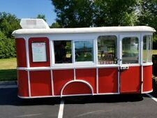 1957 Wooden Trolley Food Concession Trailer For Sale