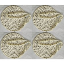 4 Pack of 3/8 Inch x 15 Ft Premium Twisted Nylon Mooring and Docking Lines