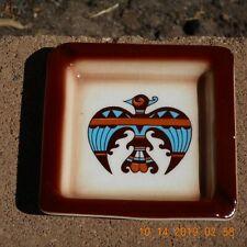 SIMS Pottery Southwest Thunderbird Design Ashtray