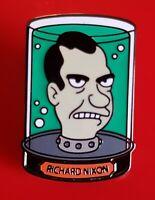 Futurama Pin Richard Nixon's Head in a Jar Enamel Metal Brooch Badge Lapel Gift