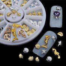 3D Ocean Nail Art Tips Accessories Alloy Jewelry Glitter Acrylic Gem Manicure