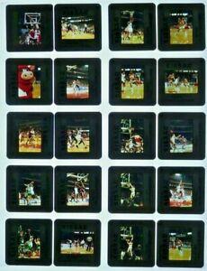 JTM6-4 80-90s NBA Chicago Bulls MICHAEL JORDAN LARRY BIRD (100) ORIG 35mm Slides
