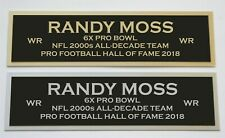 Randy Moss nameplate for signed jersey football helmet or photo