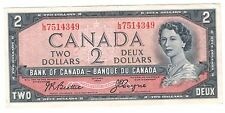 Canada 1954 $2 Banknote Beattie-Coyne L/B 7514349