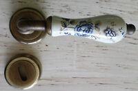 Maniglia porte interne ottone bronzato Porcellana decoro oro