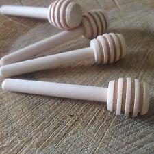 "50 Mini Miniature Wooden Honey Favour Size Dipper Drizzler DIY 8cm 3.14"" Wedding"