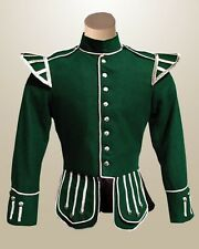 Green Drummer Military Doublet- Bespoke by Scottish Kilt | Made To Measure