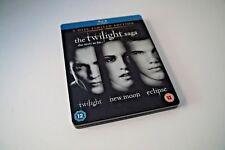 Twilight Saga Triple - Twilight / New Moon / Eclipse (STEELBOOK BLU RAY)