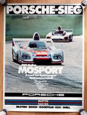 """orginal Porsche Plakat Poster """"200 Meilen Mosport"""" 1976 Martini Porsche 936"""