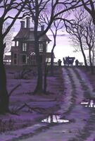 LE 4x6 HALLOWEEN POSTCARD 2/200 RYTA WITCH HAUNTED HOUSE HORSE CARRIAGE HAUNTED