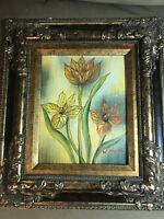 """Nice """"Still Life With Flowers Scene"""" Oil On Board Painting #2- Signed And Framed"""