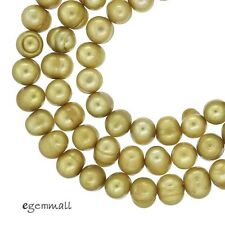 """16"""" Freshwater Pearl Egg Round Potato Beads 4.5-5mm Champagne #66246"""
