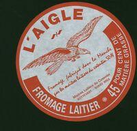 Etiquette de Fromage  L'Aigle Fabriqué dans la Manche  No 112