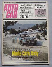 Autocar 1/2/1975 featuring Colt Galant, Reliant Scimitar GTE, Monte Carlo Rally