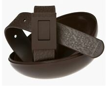 New Cinture Too Late Belt Brown 100% Made in Italy