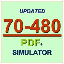 Latest 70-480 Verified Practice Test 480 Exam QA PDF+Simulator