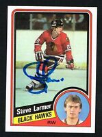 Steve Larmer #30 signed autograph auto 1984-85 Topps Hockey Trading Card