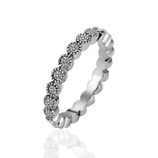 Fashion Korean style Platinum Plated FULL Round Mosaic Czech drilling Girls ring