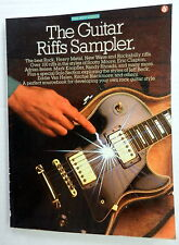 THE GUITAR RIFF SAMPLER Guitar SONGBOOK Amsco Publ. 1987 Press classic ROCK