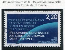 TIMBRE FRANCE OBLITERE N° 2559 DROITS DE L'HOMME / Photo non contractuelle