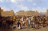 """Old Smithfield Market"" by Jacques-Laurent Agasse. Canvas Life Art.  13x19 Print"