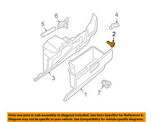 NISSAN OEM-Glove Box Screw 0145100581