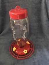 Decorative Glass hummingbird feeder
