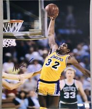 Magic Johnson Lakers vs. Larry Bird Autographed 16x20 NBA signed photo SSG JSA