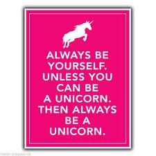 """""""a menos que puede ser un unicornio"""" Keep Calm Cartel Placa de pared de metal arte cartel impresión"""