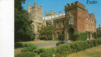 Postcard  Devon The  Bishop's Palace. and Cathedral  Exeter  unposted  salmon