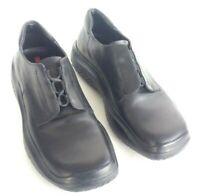 Prada 3604 Womens Size 7.5 Black Oxford Shoes Mismatch Size foot L38 R38.5