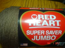 1  Skein of Red Heart Super Saver JUMBO Worsted Weight Yarn 14 oz in Cafe Latte