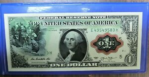 1869 George Washington Christopher Columbus Rainbow One-Dollar Banknote *325*