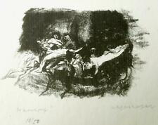 MAX MAYRSHOFER Lithograph ~ GERMAN EXPRESSIONIST ~ Hand Signed c1920 STRUGGLE