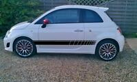 Fiat 500/Fiat 500C Faded side stripes, stickers,decals,graphics,abarth, sport