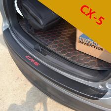 Mazda CX5 2014-15 PU leather Carbon fiber trunk guard rear bumper foot plate