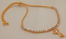 Gold Plated CZ Adjustable Bracelet