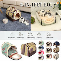 Dogs Pet Cat Bed House Portable Puppy Warm Kennel Cave Nest Pad Cushion Washable