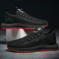 Men Breathable Monolayer Mesh Shoes Knit Sports Running Athletic Sneakers