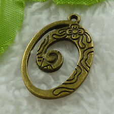 free ship 152 pieces bronze plated nice charms 28x18mm #3334