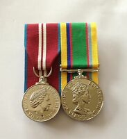 Queens Diamond Jubilee & Army Cadet Force Full Size Mounted Medals, QDJ & ACF