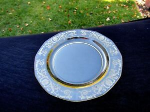 "Topaz Yellow Versailles 7½"" Salad Plate # 2375"