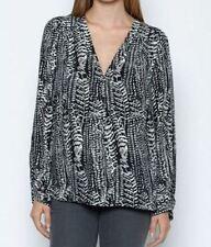 NWT JOIE Yinca Feather Print Silk Blouse, XXS (Fits like S), $268