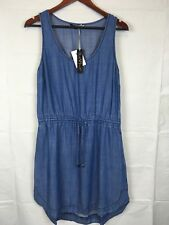 Velvet Heart Womens Blue Tencel Sleeveless Dress With Draw String Size M A00