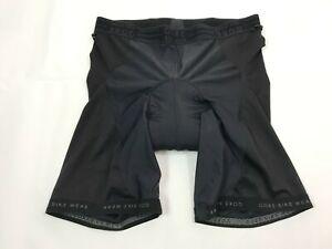 GORE BIKE WEAR Black Padded Meshed Cycling Shorts Mens Size 2XL Liner Bike Pants