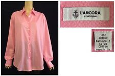 L'Ancora Portofino Italy Pink Cotton Button Down Relaxed Fit Shirt Size 52