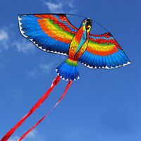 BULE NEW Kites For Kids Children Lovely Cartoon Parrot Kites With Flying Line