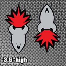 "Joe Rocket Stickers 3.5"" Style 2 DECALS Logos FREE SHIP sponsor belly pan bike"