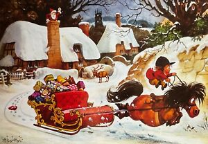 THELWELL CHARITY CHRISTMAS CARD - 'HIJACKED' - FUNNY - SINGLE CARD 14 X 20CM